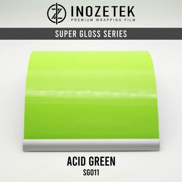 Inozetek Premium Wrapping Film Acid Green Non-Metallic