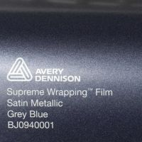 Avery Grey Blue Satin Metallic