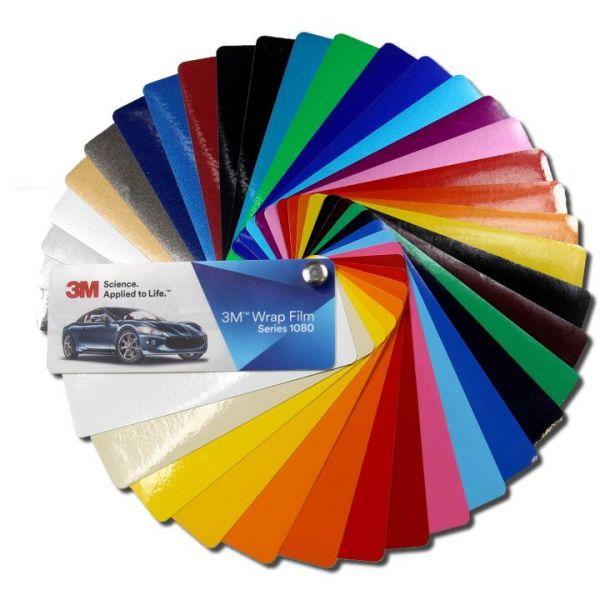 3M 1080 Glanz Autofolie Farbfächer
