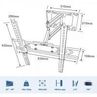 Rapid Teck® TV Wandhalterung neig-/schwenkbar bis 60 Zoll
