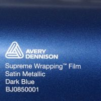 Avery Dark Blue Satin Metallic