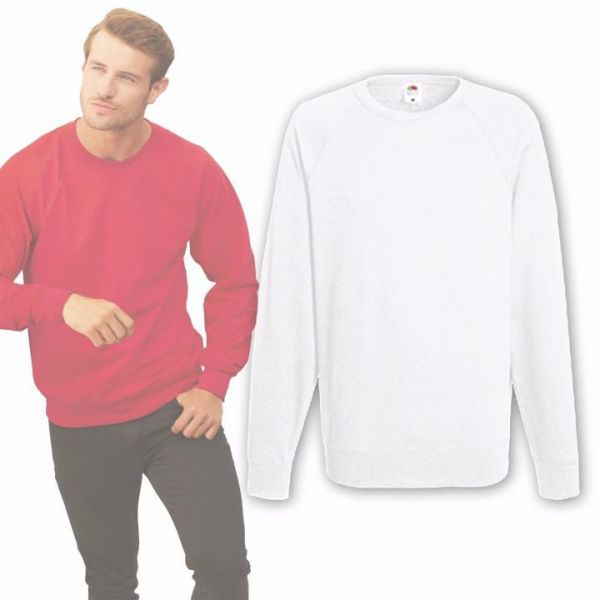 Fruit of the Loom Sweatshirt Weiß