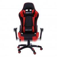 Rapid Teck® GT Race Chair Schwarz-Rot Vorderansicht