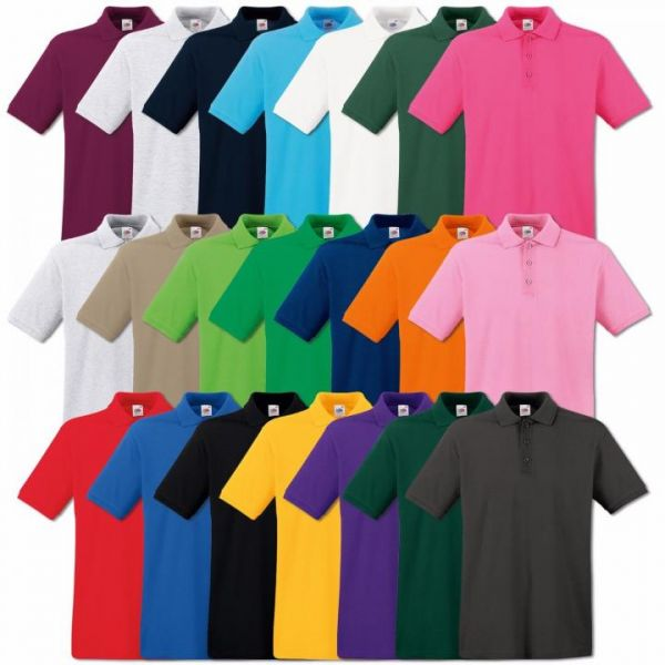 Fruit of the Loom Premium Polo-Shirt Weiß
