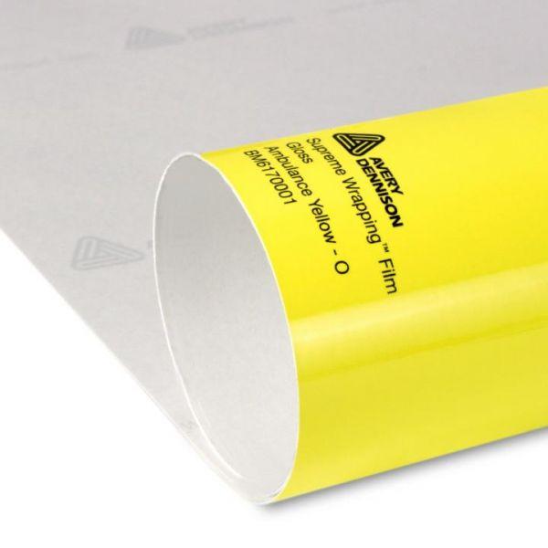 Avery® Supreme Wrapping Film Ambulance Yellow