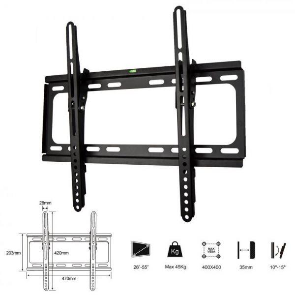 Rapid Teck® TV Wandhalterung neigbar bis 55 Zoll
