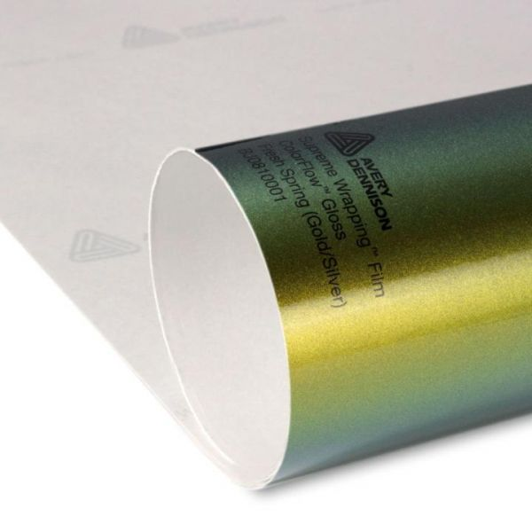 Avery® Supreme Wrapping Film ColorFlow Gloss Fresh Spring Gold/Silver