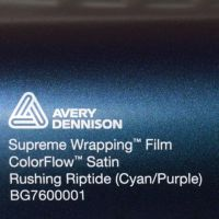 Avery CF Satin Rushing Riptide Cyan Purple