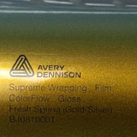 Avery® Supreme Wrapping Film ColorFlow Fresh Spring Gold/Silver Glanz