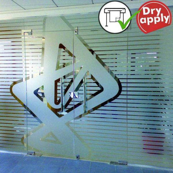 5,9€//m² Milchglas-Folie Fenster Sichtschutz 50 x 152 cm Plotter Folie Glas