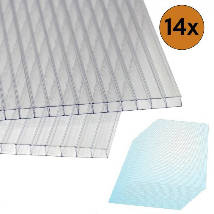 Polycarbonat Hohlkammerstegplatten 4mm Hohlkammerplatten Doppelstegplatten Set