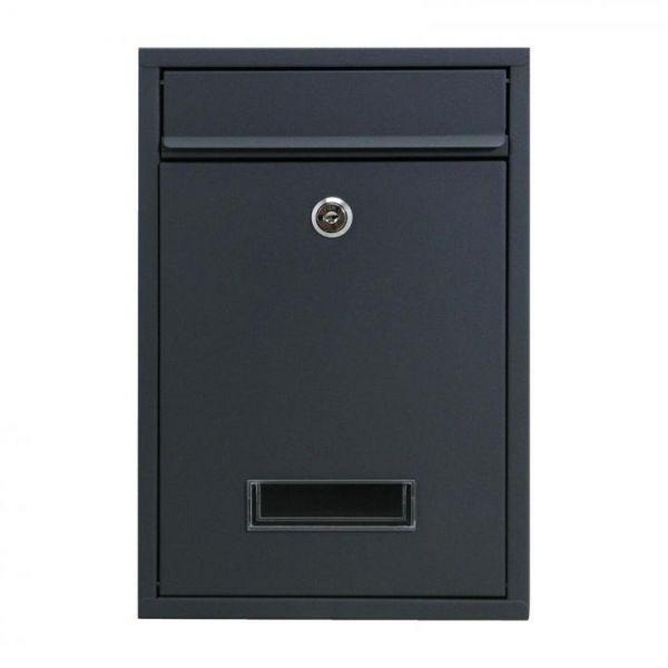 Rapid Teck® Briefkasten Stahl Schwarz Vorderansicht