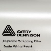 Avery Pearl White Satin