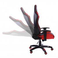 Rapid Teck® GT Race Chair Schwarz-Rot Rückenlehne