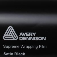 Avery Black Satin