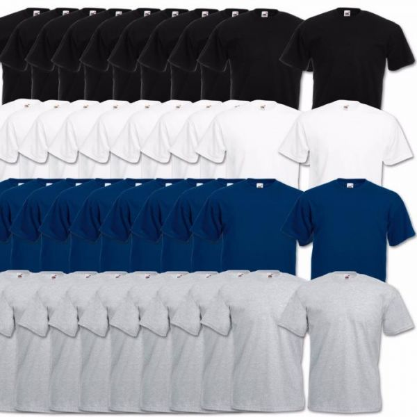 Fruit of the Loom T-Shirt Value Weight Weiß