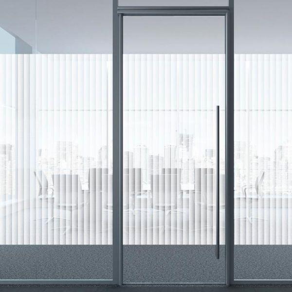 Solar Screen® Milchglasfolie BOREAL mit Jalousiestreifen