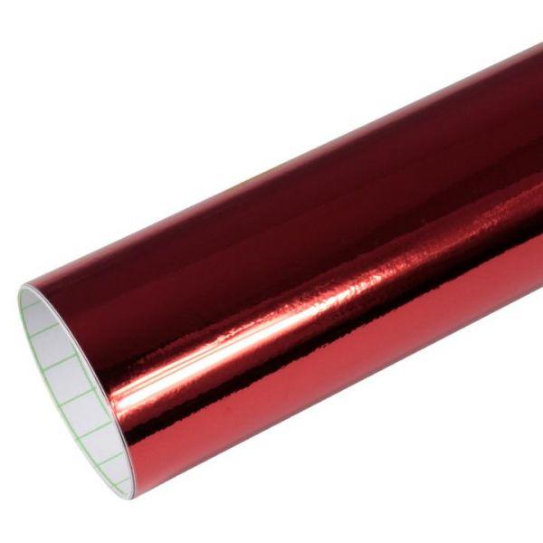 Rapid Teck® Premium Chrom Superglanz Autofolie Rot Rolle