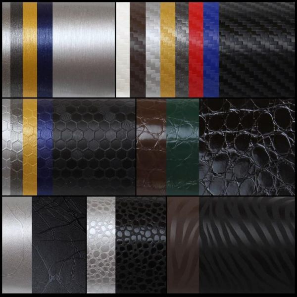 Oracal® 975 Premium Structure Cast Autofolie Weiß Carbon