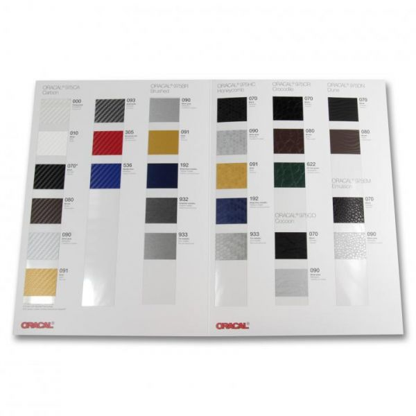 Oracal® 975 Premium Structure Cast Autofolie Farbkarte