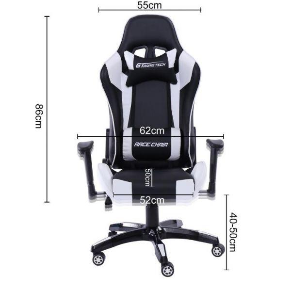 Rapid Teck® GT Race Chair Schwarz-Rot Drehstuhl