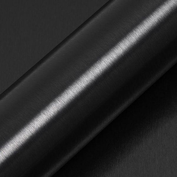 Hexis SKINTAC HX30000 Autofolie HX30BA889B Gebürstetes Aluminium Carbonschwarz