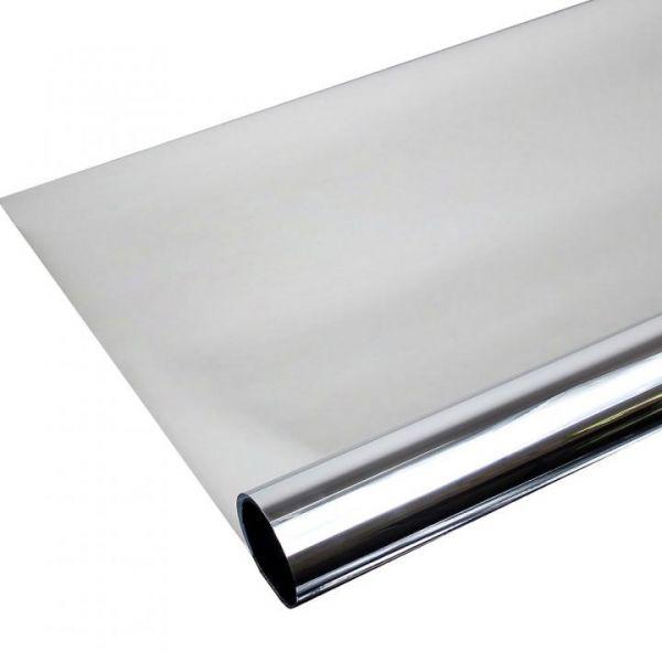 Spiegelfolie Silber Spion Sichtschutzfolie ALU80c