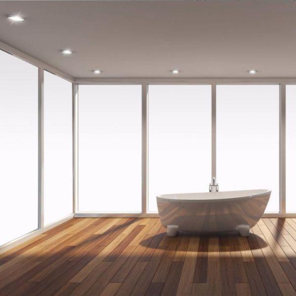 Solar Screen® OPAQUE WHITE blickdichte Fensterfolie