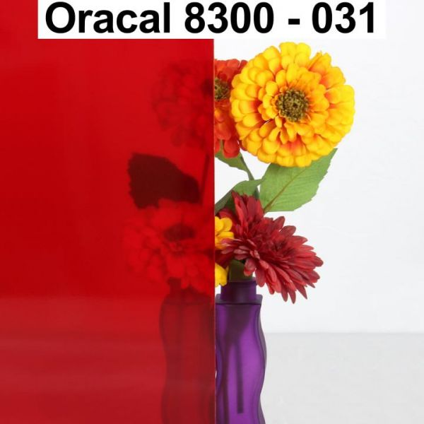 Oracal® 8300 Transparent Cal Fensterfolie Rot