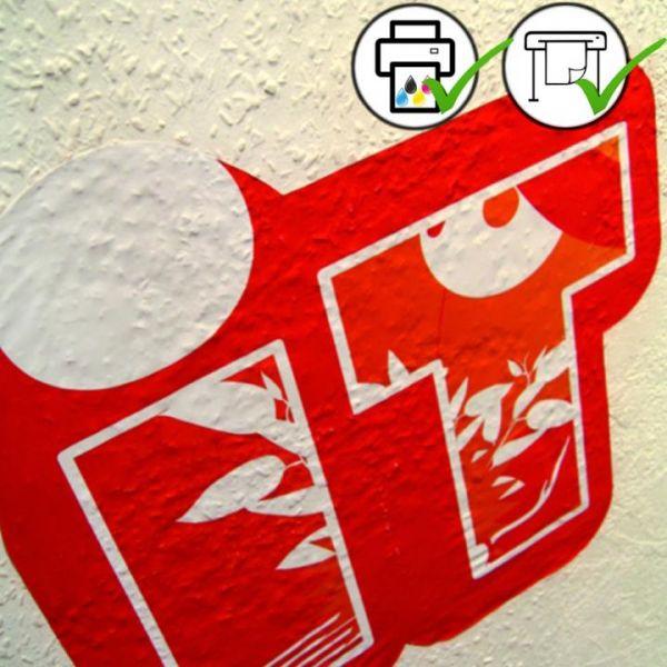 ASLAN® DFP 40 leicht haftende Digitaldruckfolie weiß