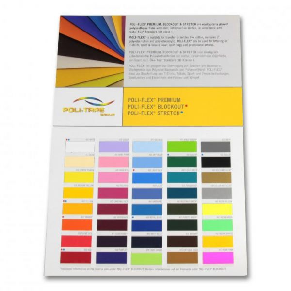 Poli-Flex® Premium Farbkarte Textilfolie