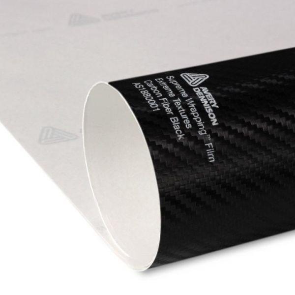 Avery Dennison® Supreme Wrapping Film Extreme Texture Carbon Fiber Black