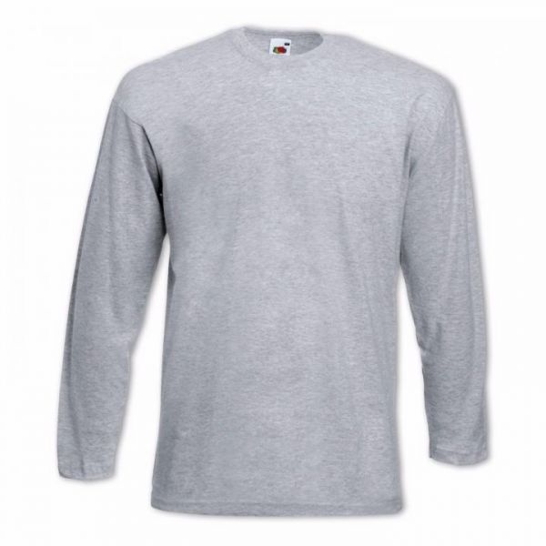 "Fruit of the Loom® T-Shirt ""Longsleeve T"" Graumeliert"