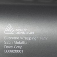 Avery Dove Grey Satin Metallic