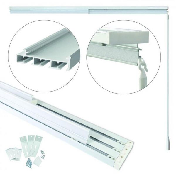 Rapid Teck® Gardinenschiene Aluminium