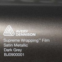 Avery Dark Grey Satin Metallic